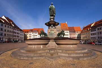 Obermarkt - Otto der Reiche Denkmal in Freiberg