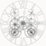 Transparent clock mechanism