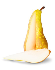 Yellow Pear With Cut Out Segment