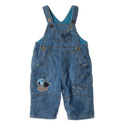 Blue children's jeans on straps