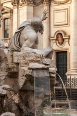 Fontana dei Quattro Fiumi,Rio del Plata. Piazza Navona, Roma.