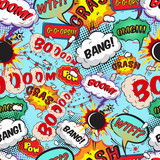 Seamless pattern comic speech bubbles poster