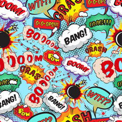 Seamless pattern comic speech bubbles © macrovector