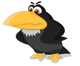 Nice cartoon angry raven