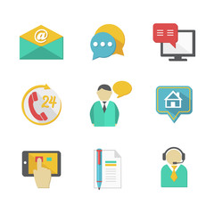 Customer Helpdesk Contacts Design Elements