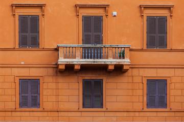Palazzo Arancione con Balcone sospeso. Piazza Navona, Roma