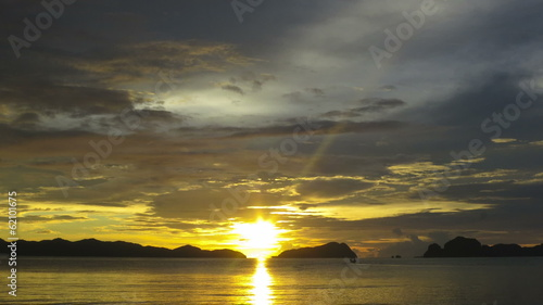 Beautiful cloudscape sunset Philippines time lapse