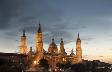Basilica Del Pilar in Zaragoza , Spain