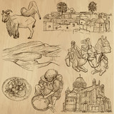 ALGERIA_2. Collection of hand drawn illustrations into vector