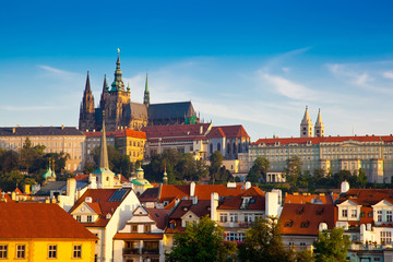 View of the Cathedral of St. Vitus, Prague, Czech Republic.