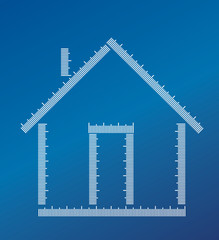 Home builded with Ruler measurements