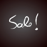 Sale handwritten with white chalk on a blackboard vector