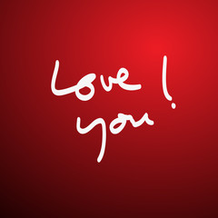 Love you handwritten vector