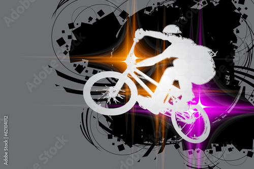 Foto op Canvas Fietsen BMX cyclist