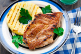 Pineapple grilled pork chop