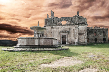 Church of San Bonaventura, Monterano, Lazio, Italy