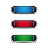Empty button set vector