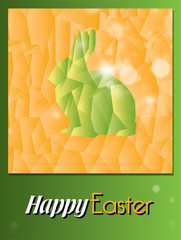 Happy Easter giallo, verde