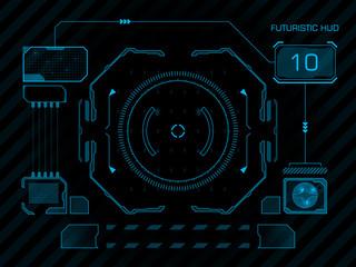 Futuristic user interface HUD