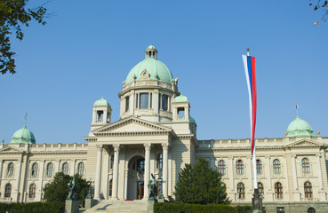 Building of the Serbian National parliament
