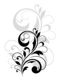 Pretty swirling foliate design element