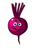 Cartoon beetroot vegetable with a happy face