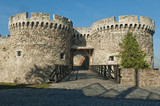 Gate and bridge, Kalemegdan fortress in Belgrade, Serbia