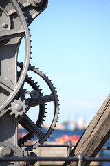steel cog wheels metal gears mechanical ratchets