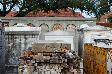 Crypts in New Orleans Cemetery