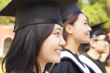 close-up pretty female university graduate  at ceremony