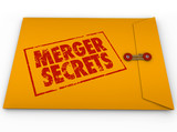 Merger Secrets Yellow Envelope Classified Information poster