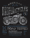 Vintage Motorcycle T-shirt Graphic - 62109213