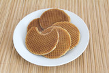 Dutch Waffles (Stroop Wafels) on a plate