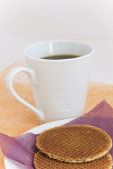 Stroop Wafels (Dutch Waffles) and Coffee