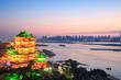 beautiful nanchang tengwang pavilion in sunset