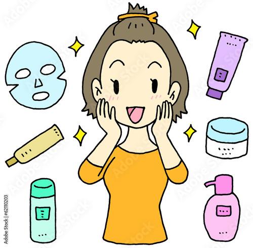 基礎化粧品 女性