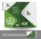 Fototapety Bi-Fold Golf Tournament Brochure Design