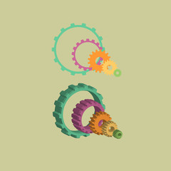 2D And 3D Gears