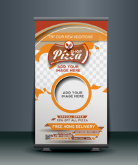 Pizza Shop Roll Up Banner Design