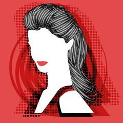 Moderne Frau Illustration Vektor