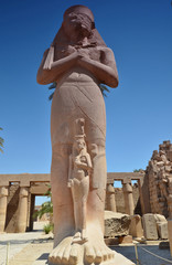 Statue of Ramses II in Karnak temple, Luxor, Egypt