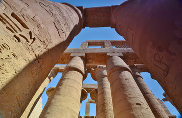 The column. Karnak temple. Luxor. Egypt.