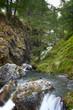 lakes, ruin, and waterfall of the valley varaita, Italy