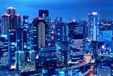 Fototapety Osaka skyline at night