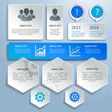 Paper business infographics design elements