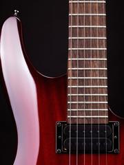 Closeup of electric guitar
