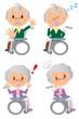 おじいさん おばあさんの表情