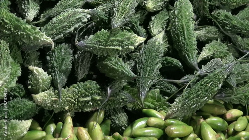fresh vegetables in asia night market bazaar, India
