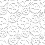 Abstract seamless pattern with cogwheels