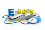 Computer mouse and book.(e-learning concept)